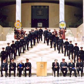Recruit graduation at City Hall
