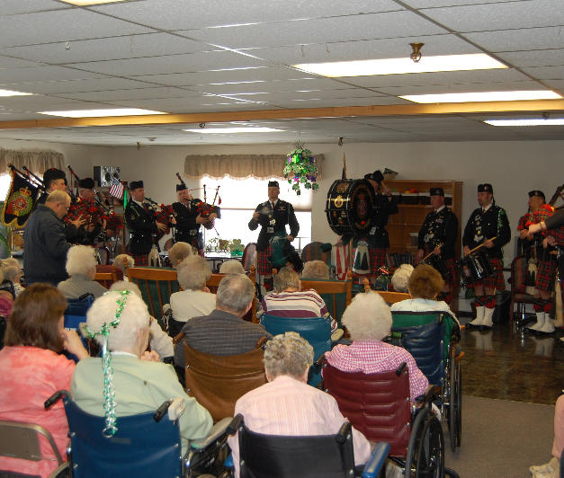 Entertaining residents at the Copper Ridge, Butte Convalesant Center & the Crest Nursing Home
