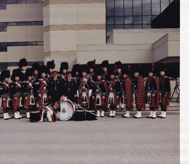 Chief John Lindsay with the band in 1997