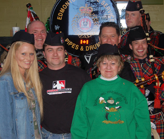 Band members with owners of The Depot on S. Arizona