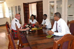 PM McKee with students