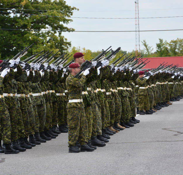 PPCLI rehearsing in parade square at Connaught Range and Primary Training Centre, Ottawa