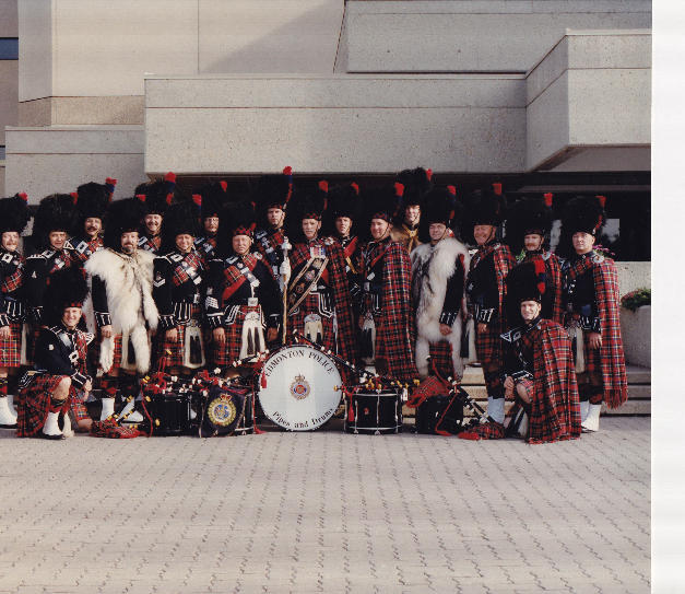 Drum Major. P.J. Bawn's last parade with the band in 1998. DM Bawn passed away in early 1999