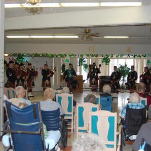 Entertaining residents at the Copper Ridge, Butte Convalesant Center & the Crest Nursing Home