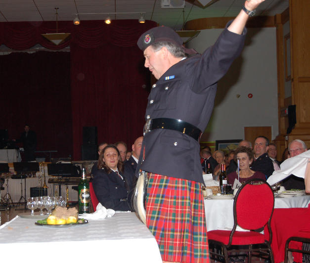 The haggis get shared with the crowd