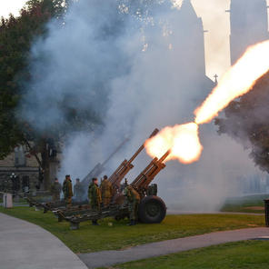 21 Gun Salute at Sunset Ceremony
