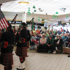Playing for shoppers at the Butte Plaza Mall