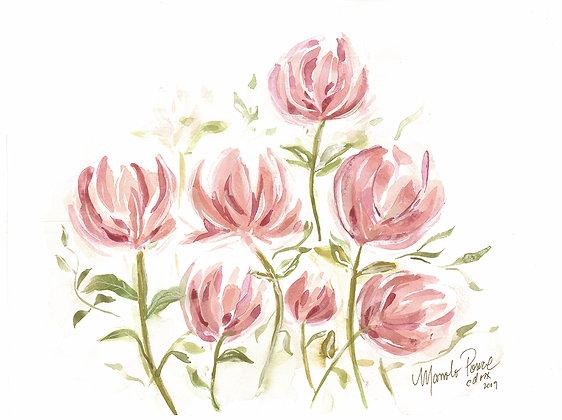 FLOWERS IN PINK / FLORES EN ROSA