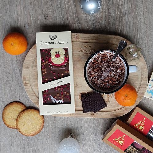 Tablette chocolat au lait de Noël