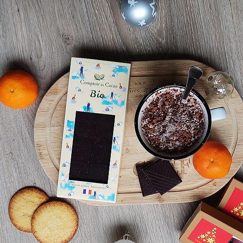 Tablette bio chocolat noir et fleur de sel