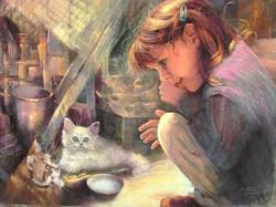 Claire et les deux chats