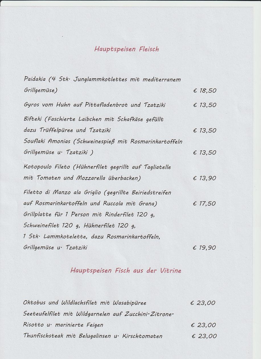 Speisekarte 1 Hauptsp.Fleisch Alper.Cosk