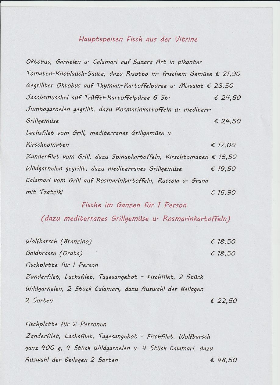 Speisekarte 1 Hauptsp.Fisch Alper.Coskun