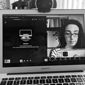 Image of Molly in multiple video call windows