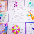 Photo of colored pie charts