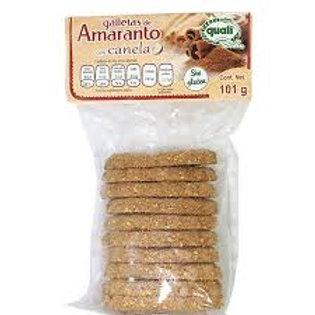 Galleta de amaranto sin gluten con canela 101 gr