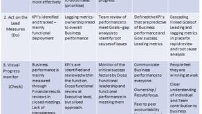 Continuous Improvement: Self -assessment Maturity matrix.