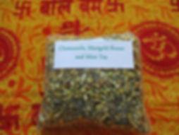 Chamomile, Mint and Marigold Flower Tea.