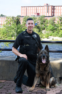 K-9 Ace and Officer Tennis