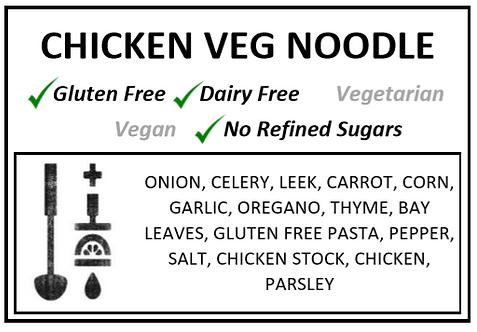 Chicken + Vegetable + Noodle Soup