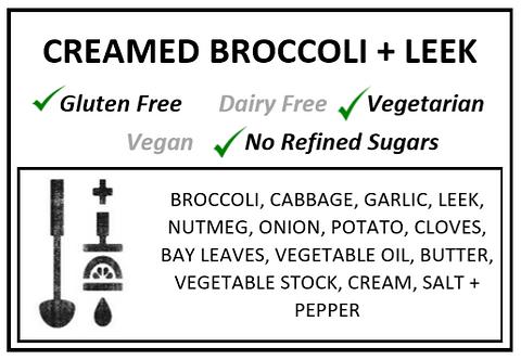 Creamed Broccoli + Leek Soup