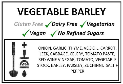 Vegetable + Barley Soup