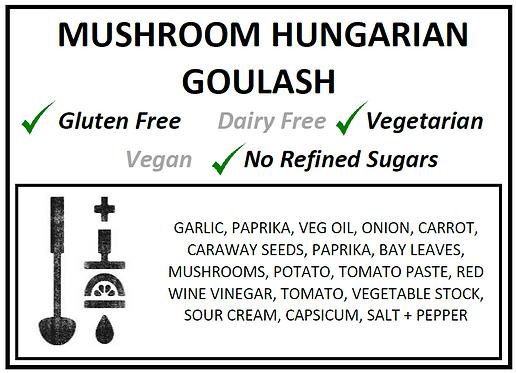 One Pot | Mushroom Hungarian Goulash