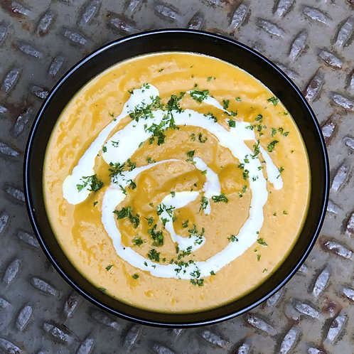 Pumpkin + Carrot + Ginger Soup