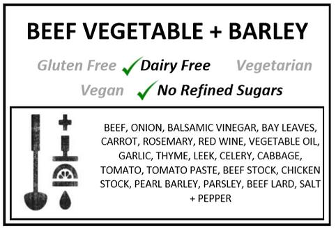 Beef + Vegetable + Barley Soup