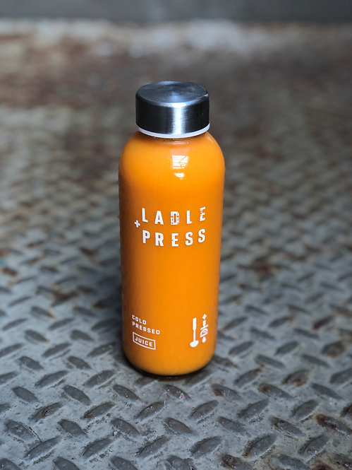 Cold Pressed Carrot + Ginger Juice