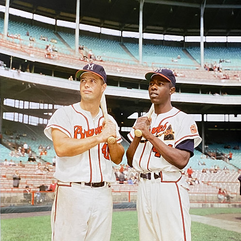 Hank Aaron and Eddie Mathews / Milwalkee Braves