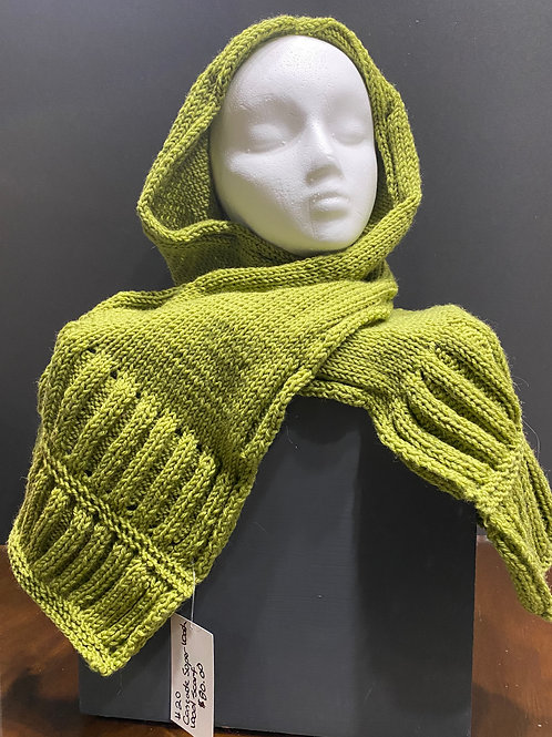 Green Hand Knitted Scarf