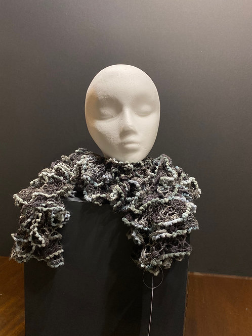 Shades of Gray Hand knitted Scarf