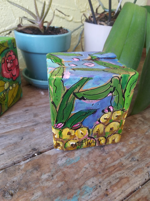 Pineapple Garden Art Block