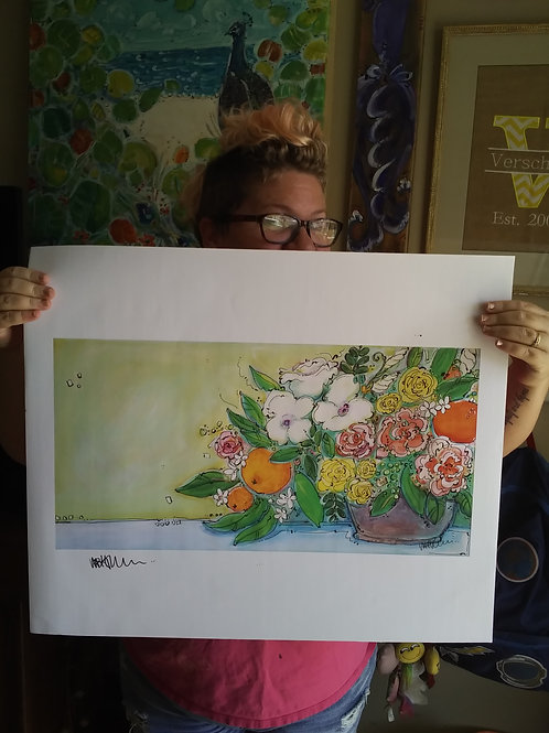 Florida Orange Bouquet (Print)