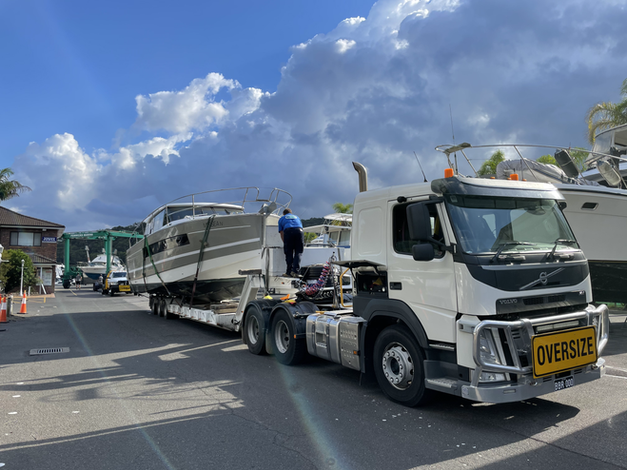 Boats by road