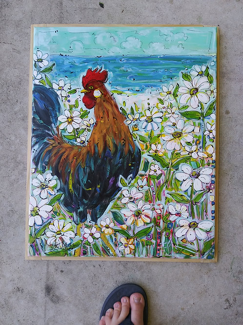 Bantam Daisy Garden (Rooster)