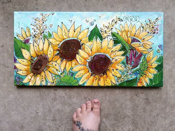 Sunflower View on Canvas