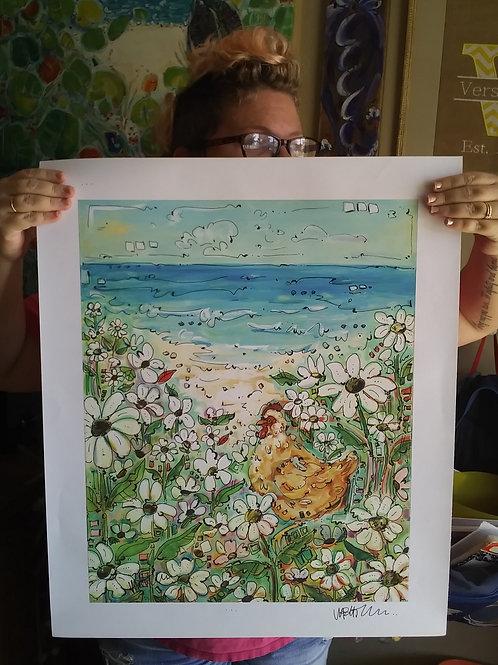 Buff Daisy Garden (Print)