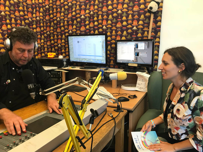 Celine Reading Ben Pot and the Stormy Feelings, on STREAM radio at Dartington College of Arts Alumni Festival