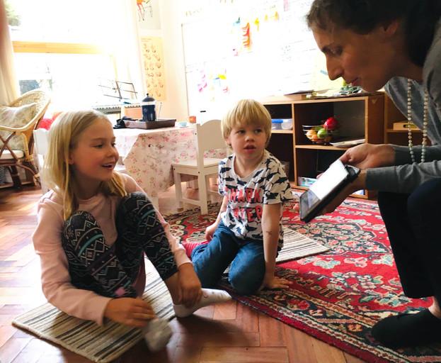 Mindfulness classes and book reading for Bright Montessori homeschool, Bristol, 2019