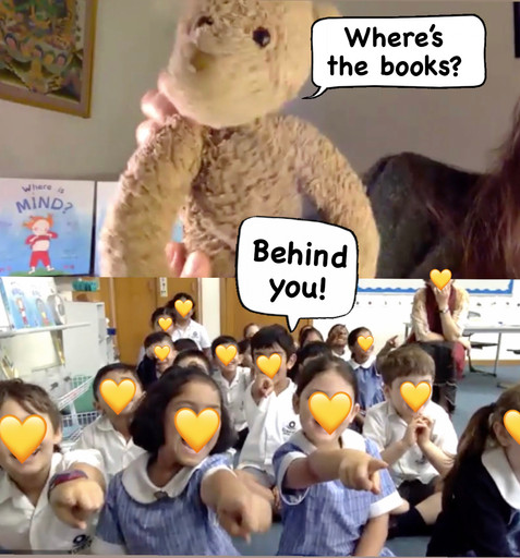 Zoom Reading for Philosophy Class at Erasmus Primary School, Year 1, Melbourne, 2021