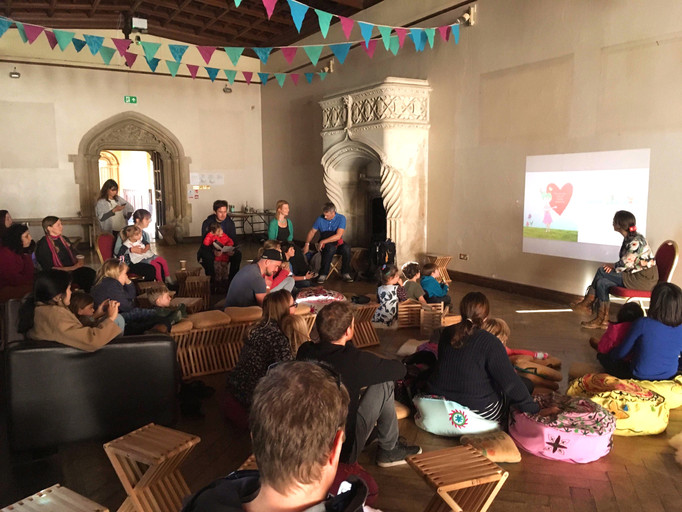 Awareness Stories, reading at Wild and Well Festival, Ashton Court, Bristol, 2018