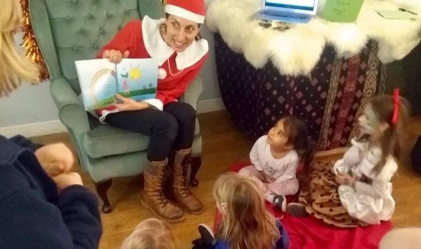 Book Launch Reading at St Werburghs Community Center Christmas Market, Bristol, 2018