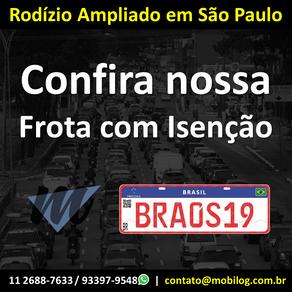Rodízio de 24 horas em São Paulo