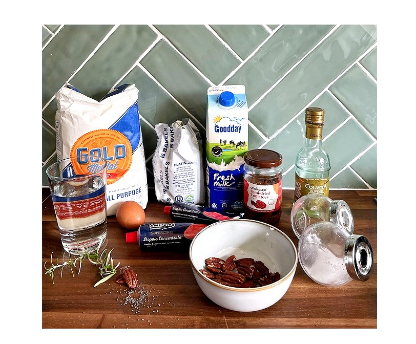 Ingredients for Tomato Bread