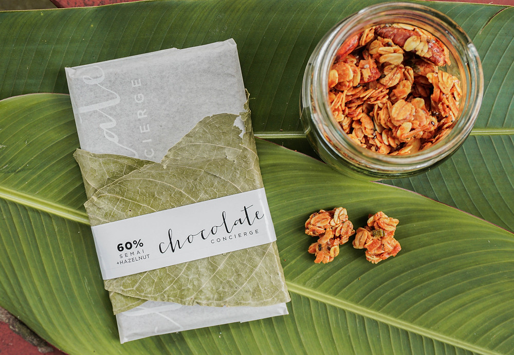 snacks - chocolate and granola