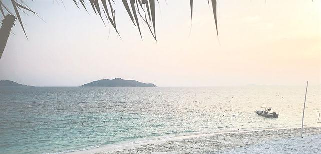 Beach in Rawa Island in Malaysia