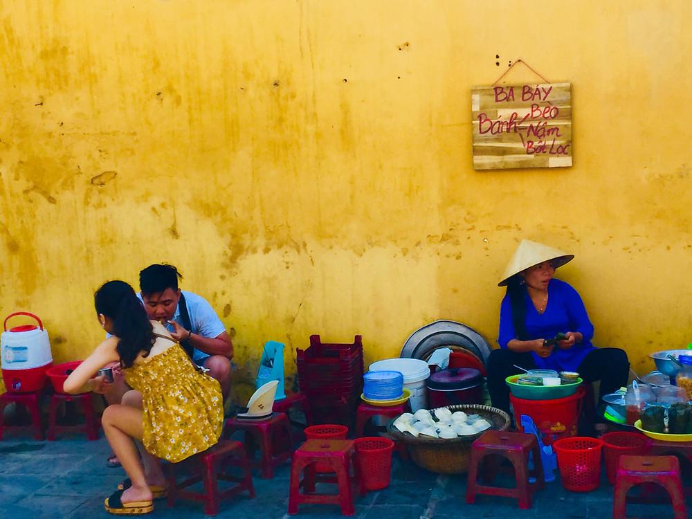 Vietnamese street food vendor