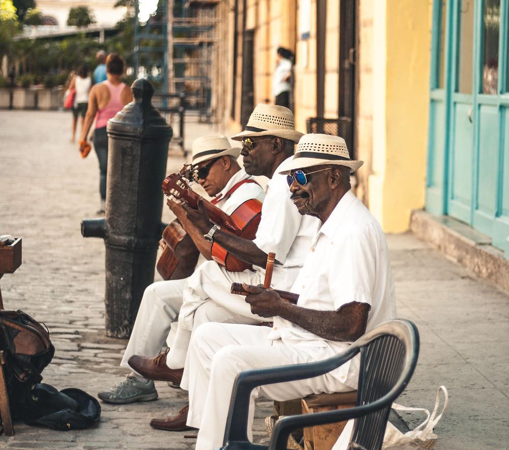 Musicians in the streets of Havana in Cuba